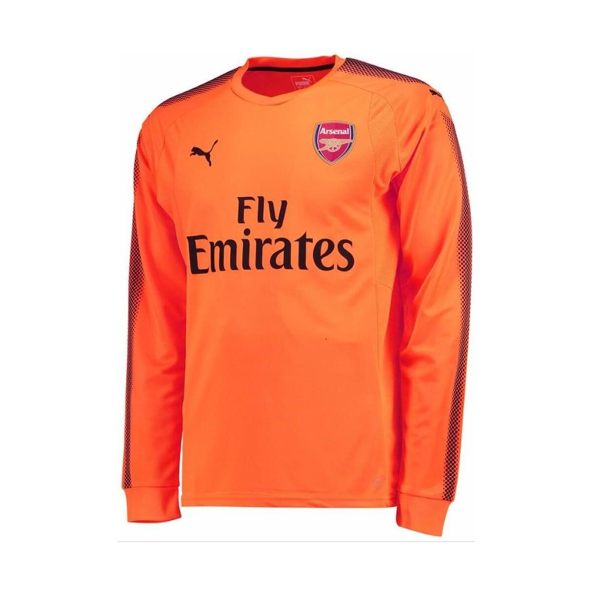 d0bdf2e13f7 PUMA - 2017-2018 Arsenal Away Ls Goalkeeper Shirt Women's In Orange - Lyst.  View fullscreen