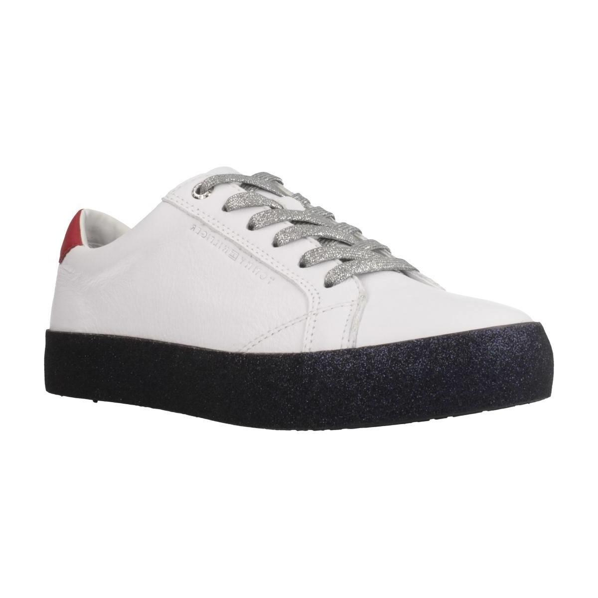 e46f45e425165 Tommy Hilfiger Fw0fw03618 Women s Shoes (trainers) In White in White ...