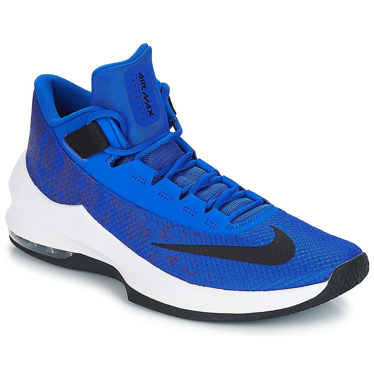 6f2a2655ae Nike Air Max Infuriate 2 Mid Basketball Trainers (shoes) in Blue for ...