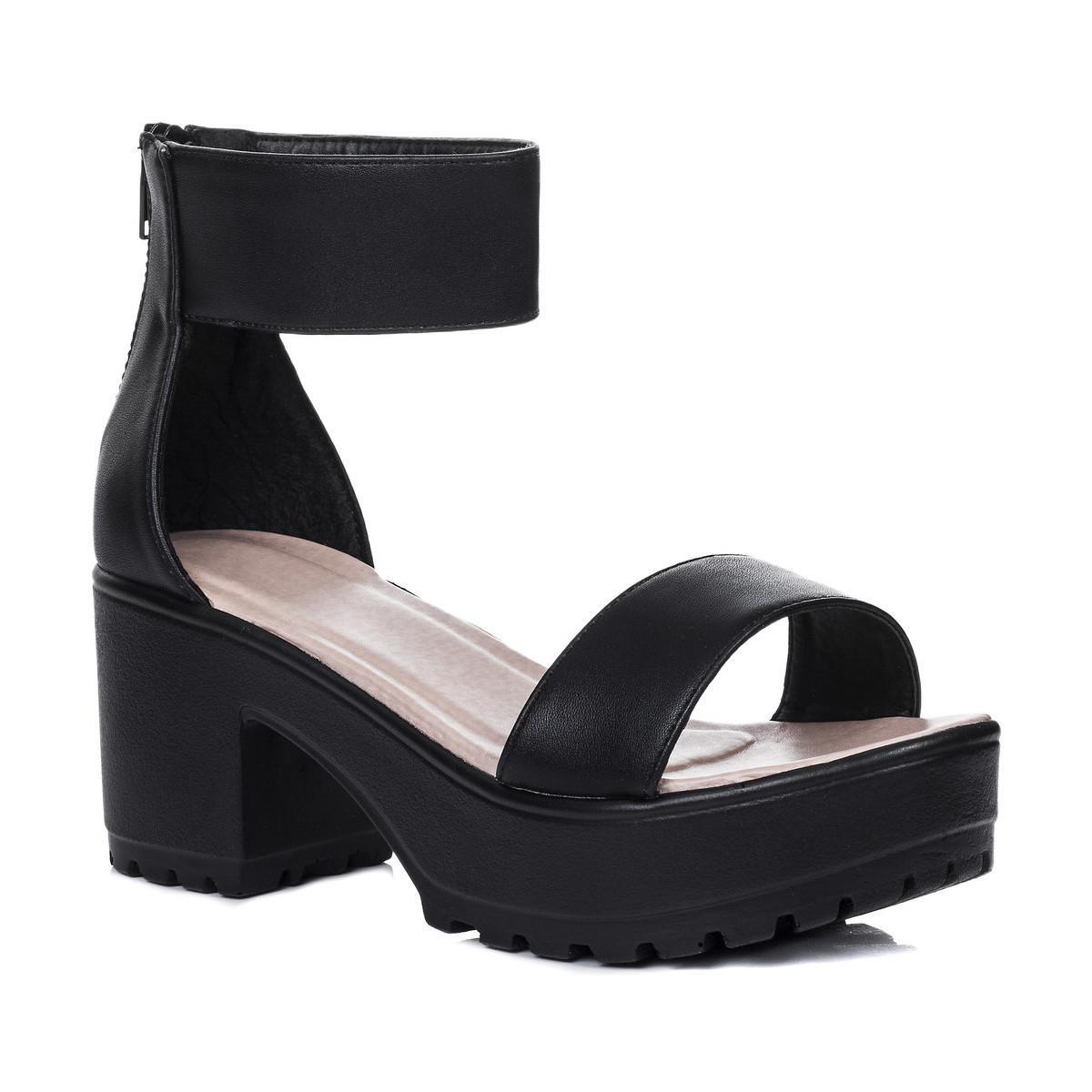 f2325009354 ... SPYLOVEBUY Sweetest Platform Cleated Sole Block Heel Sandals Shoes
