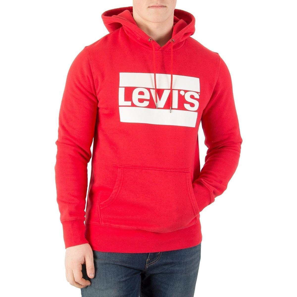 Homme Levi's Graphique 4adxq4 Shirt Rouge Capuche Sweat Lyst À ERPqx
