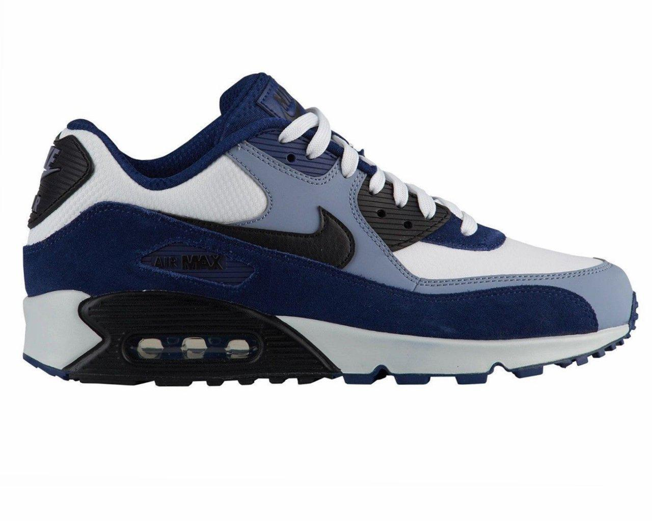158f5691ad Nike Air Max 90 Leather Trainers Blue White in Blue for Men - Lyst
