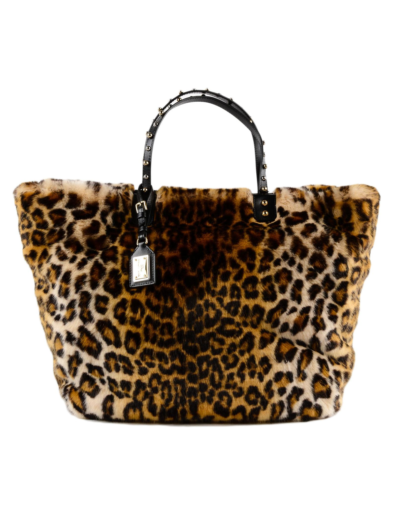cb5314f44d64 Lyst - Dolce   Gabbana Eco Fur Leo Shopping Bag
