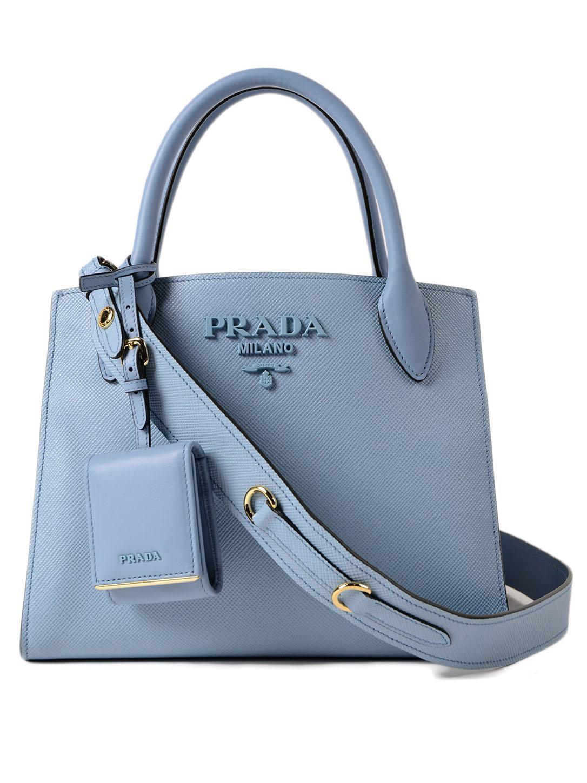 f9504330efb9 Lyst - Prada Saff.cuir+city Calf Monochrome Bag in Blue