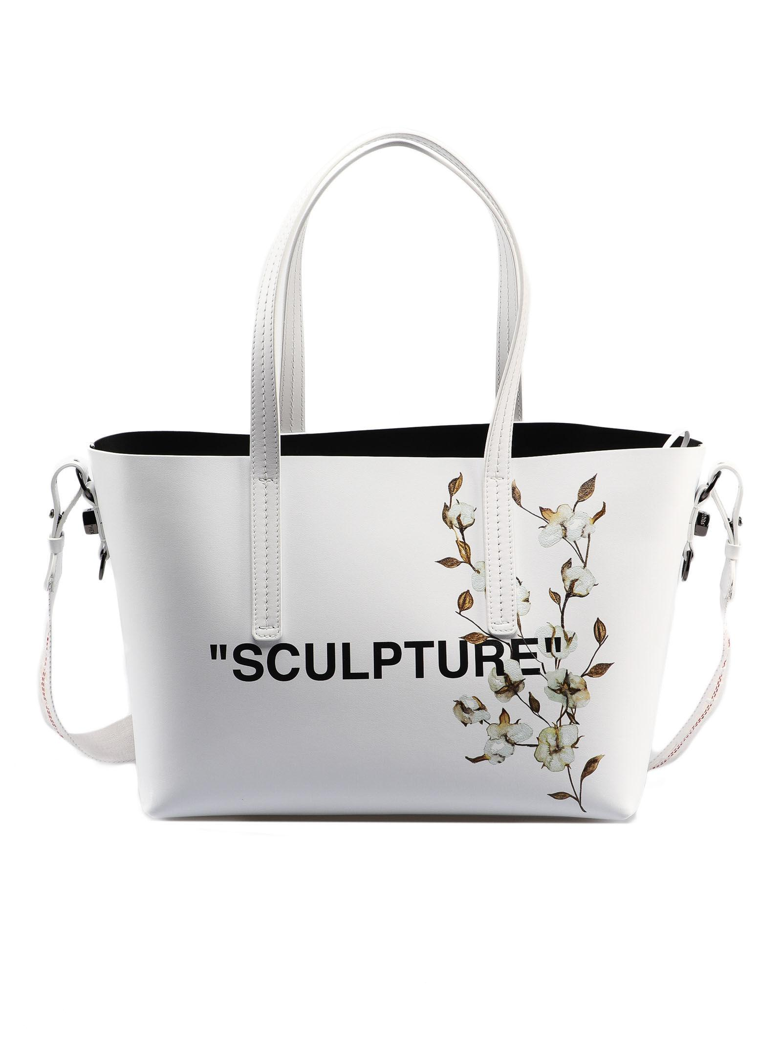 036b5be05 Off-White c/o Virgil Abloh Cotton Flower Shopper in White - Save 20 ...
