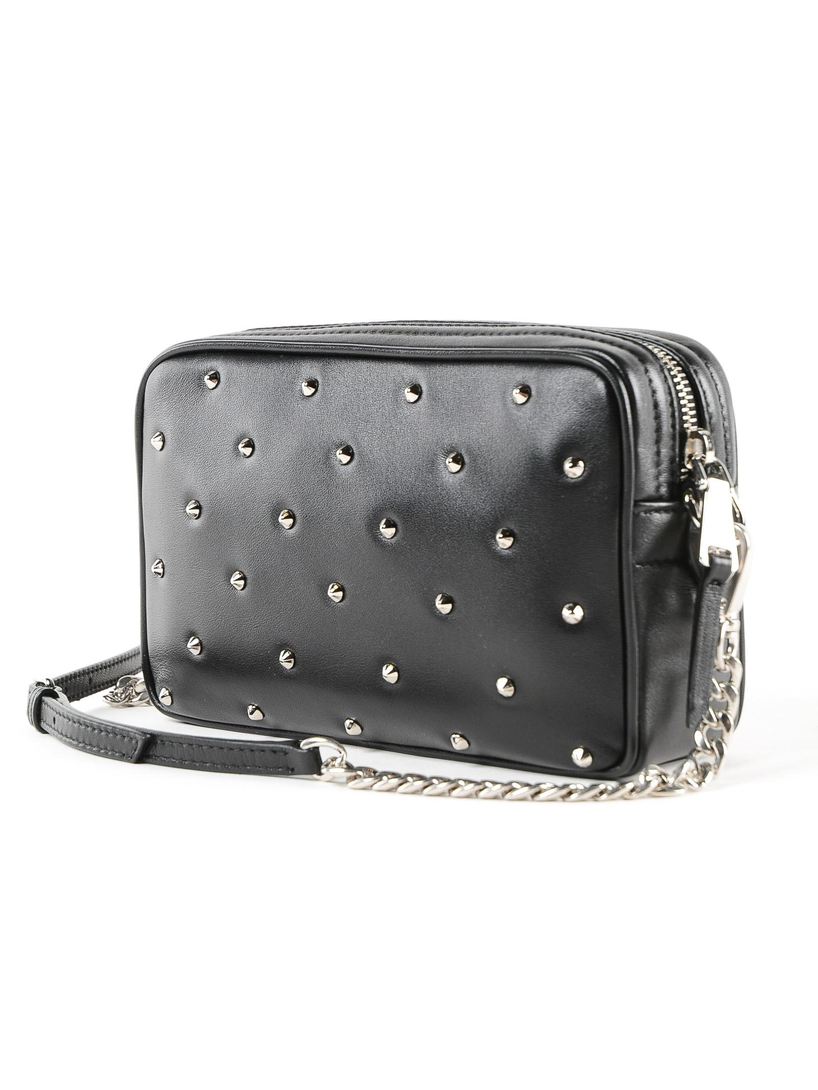 Miu Miu - Black Lambskin Diamante` Crossbody Bag - Lyst. View fullscreen 94213c8ae192b