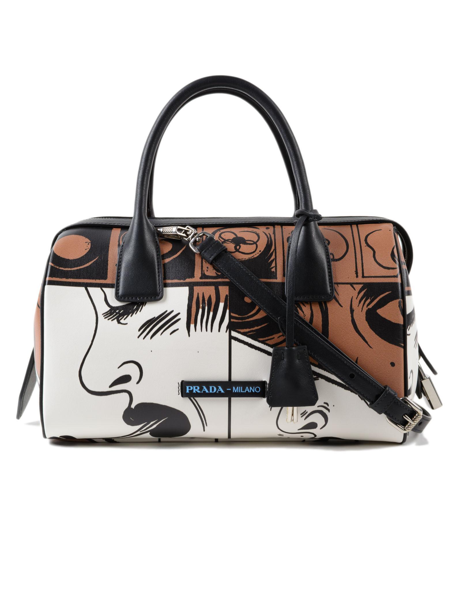 1452ebad85 Prada Grace Lux Patch Handbag - Lyst