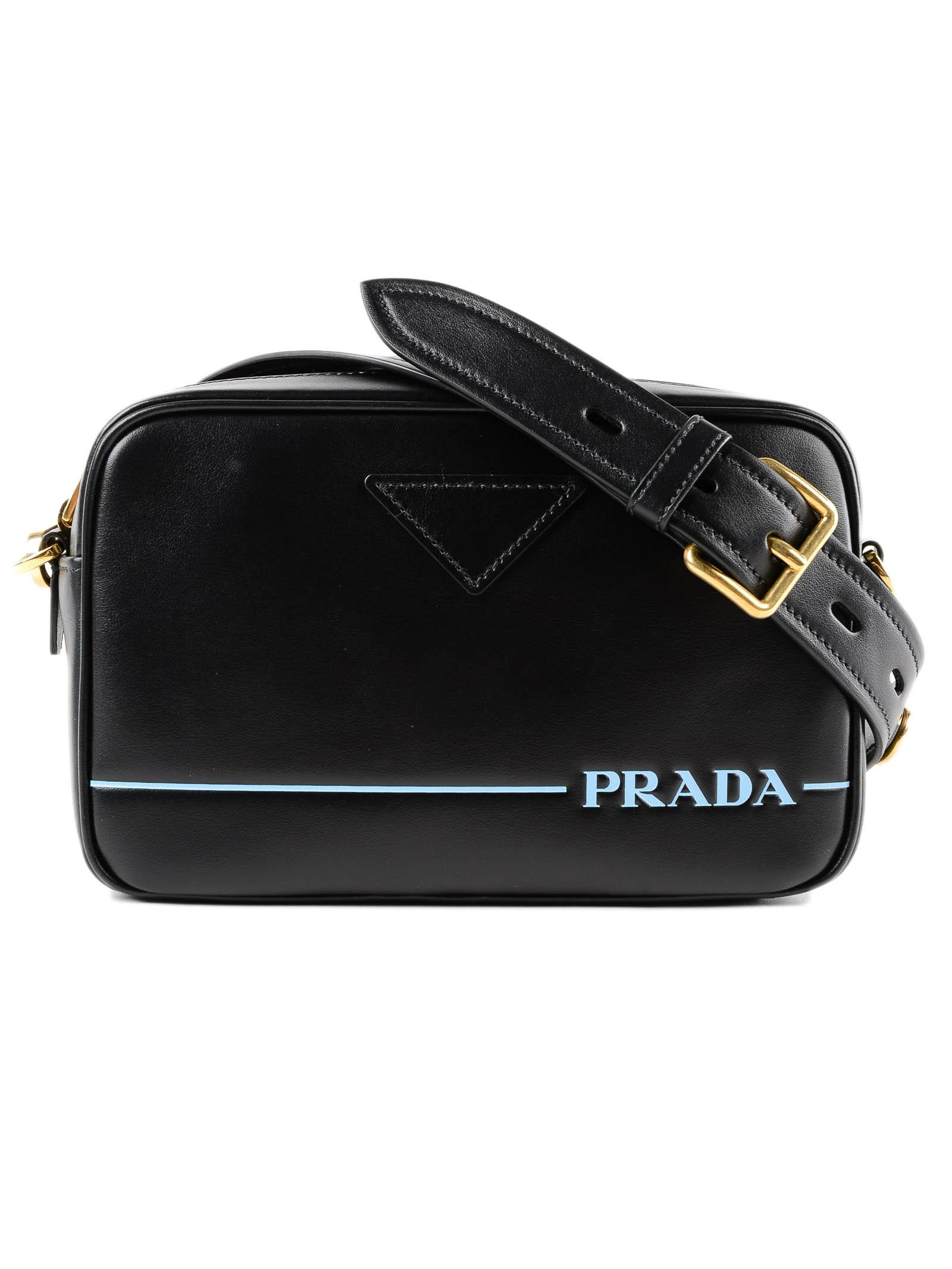 34aae15cfc99 Lyst - Prada Shoulder Bag City Calf in Black