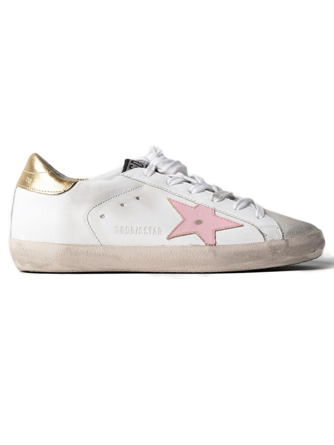 a0230c1883f Golden Goose Deluxe Brand Sneakers Superstar Pink Star in White - Lyst