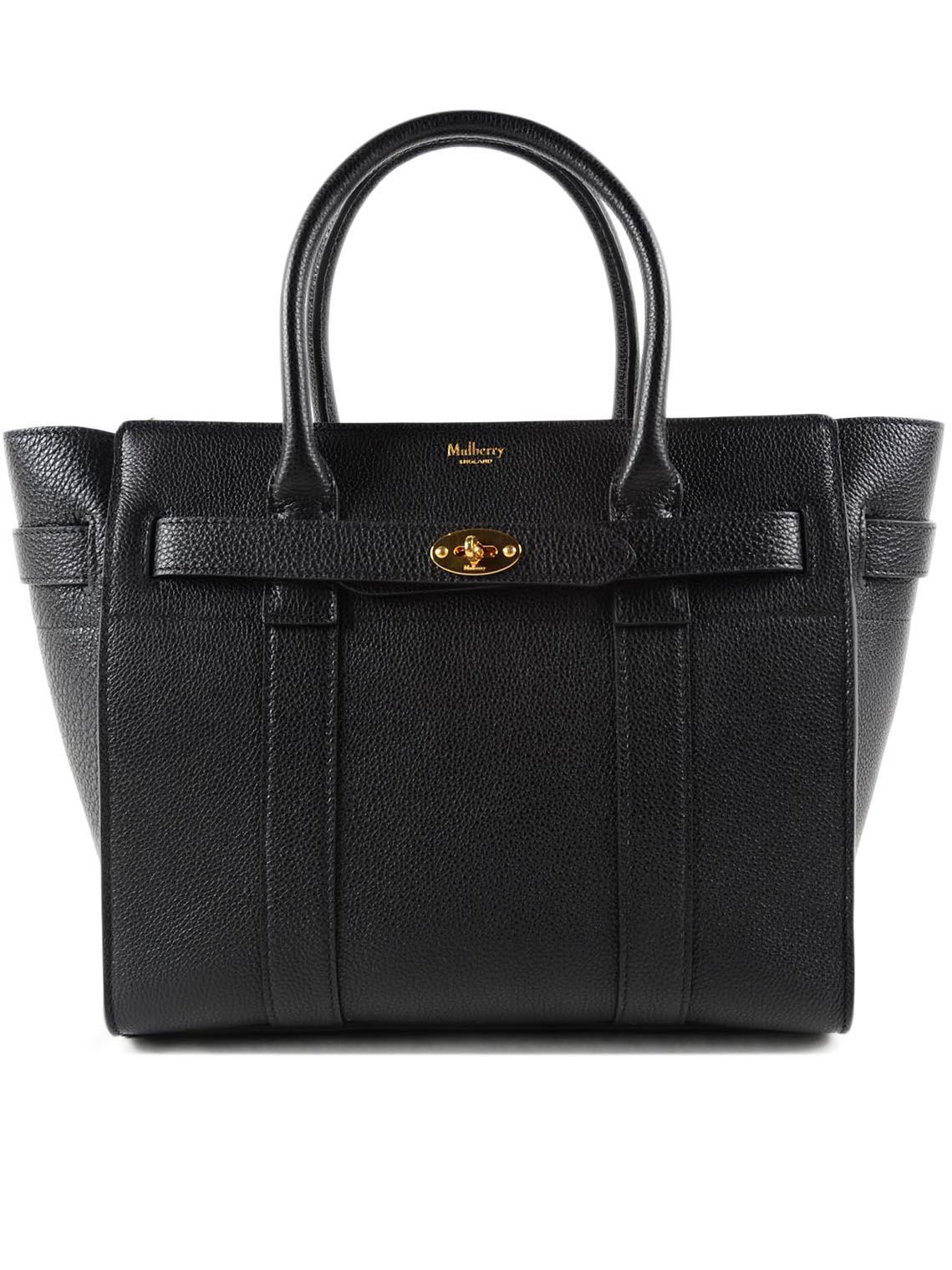 6132d29eeb Mulberry - Black Small Zip Bayswater Bag - Lyst. View fullscreen