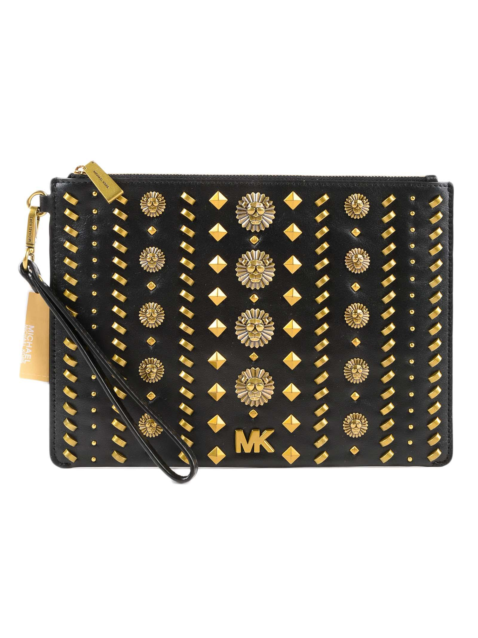 1a7204e78e069 Lyst - Michael Kors Md Zip Pouch Black in Black