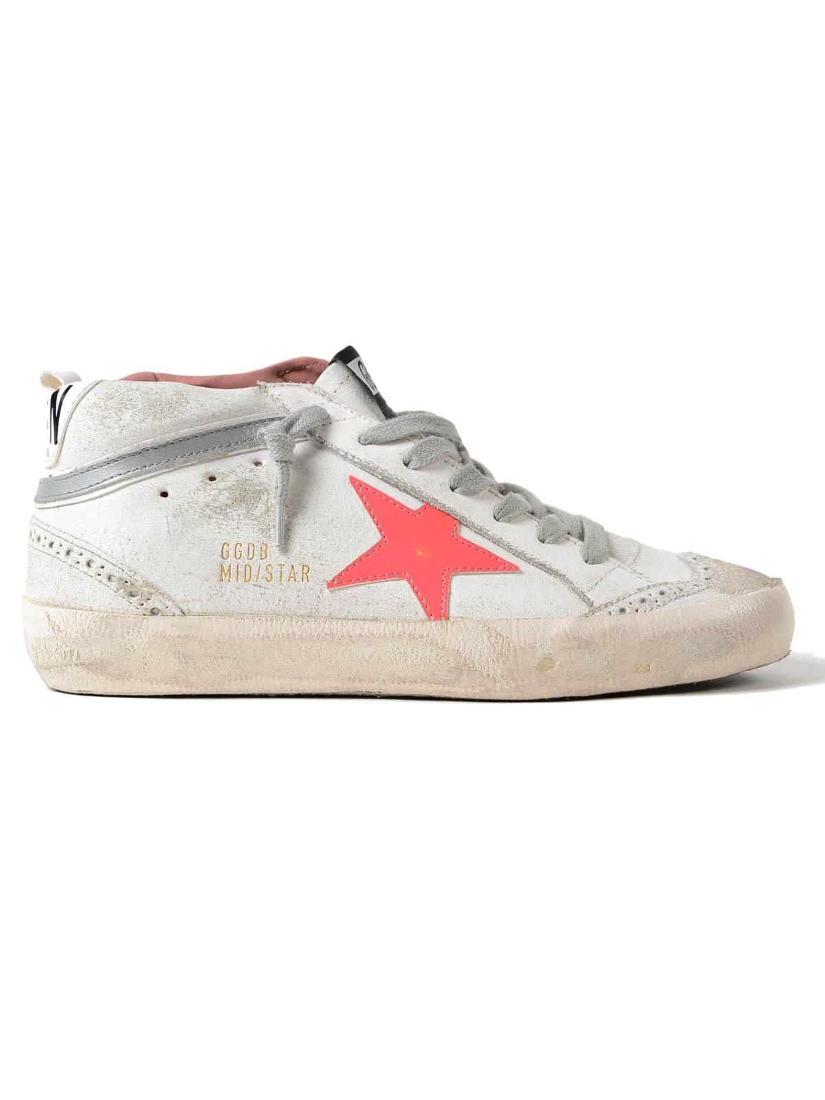 bb1e3010d Golden Goose Deluxe Brand Sneakers Mid Star Pink Patent in White - Lyst