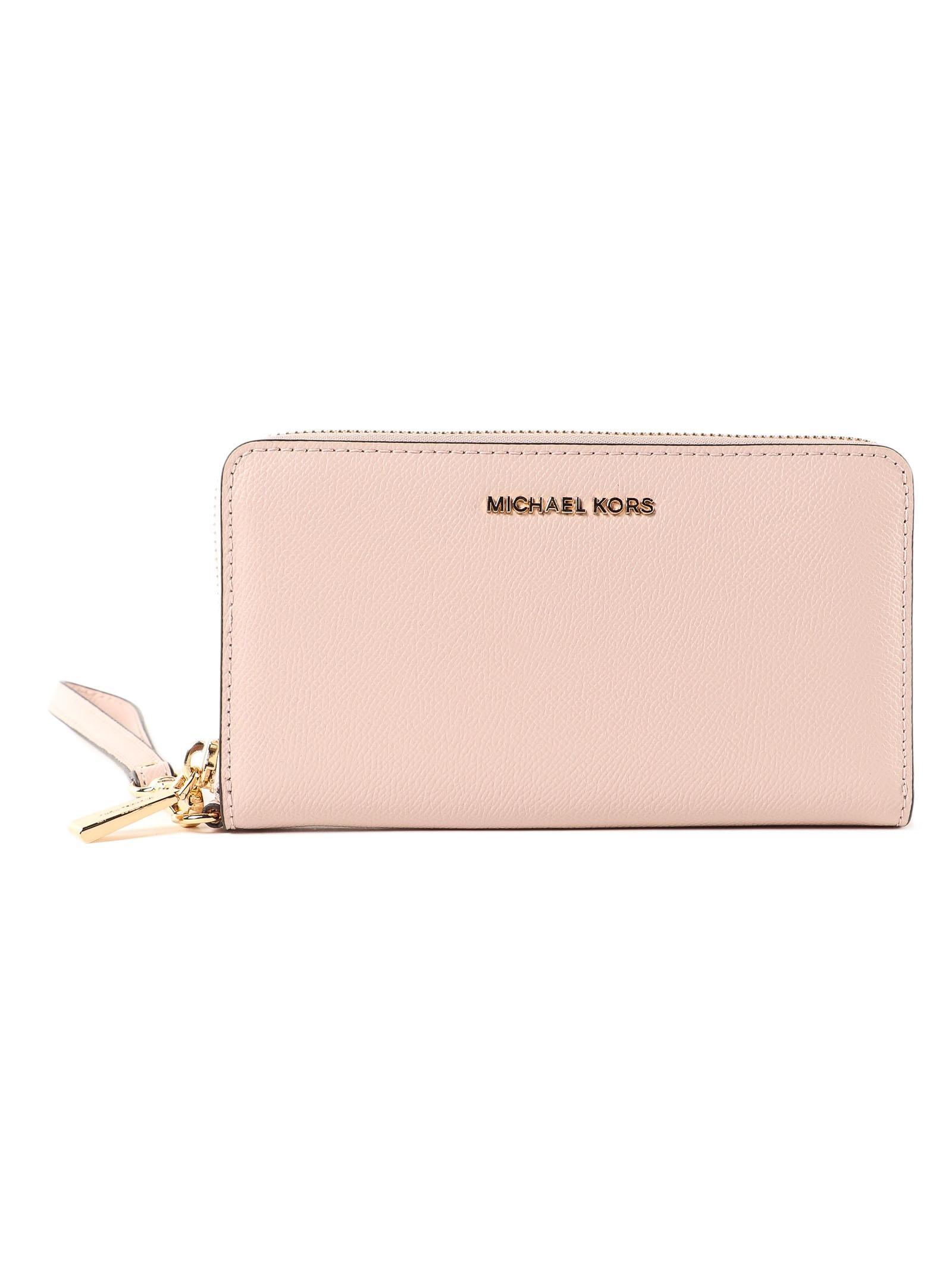 9dae23c731e7 Michael Kors - Pink Wristlets Lg Coin Mf Phn Case - Lyst. View fullscreen