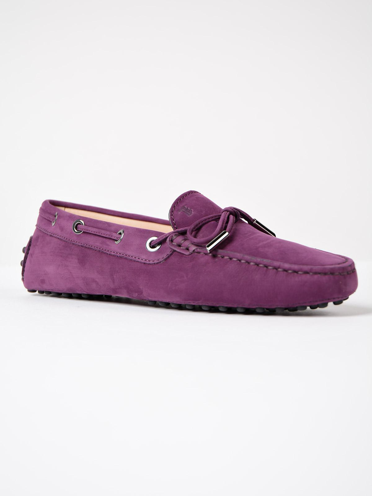 Heaven Moccasins with Bow in Lilac Textured Calfskin Tod's uvBzI8W