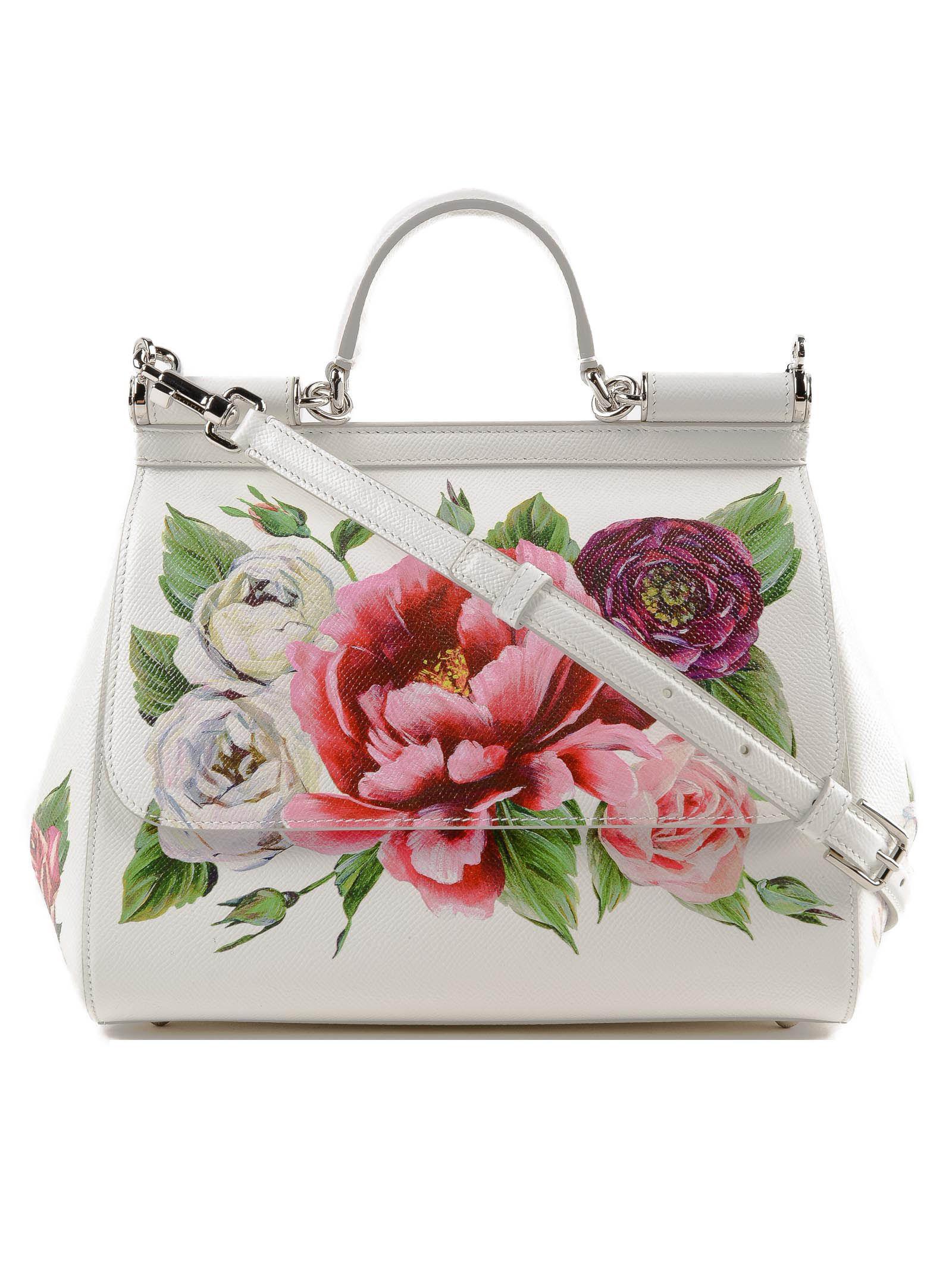 84862de8a2 Lyst - Dolce   Gabbana St.dauphine Printed Handbag