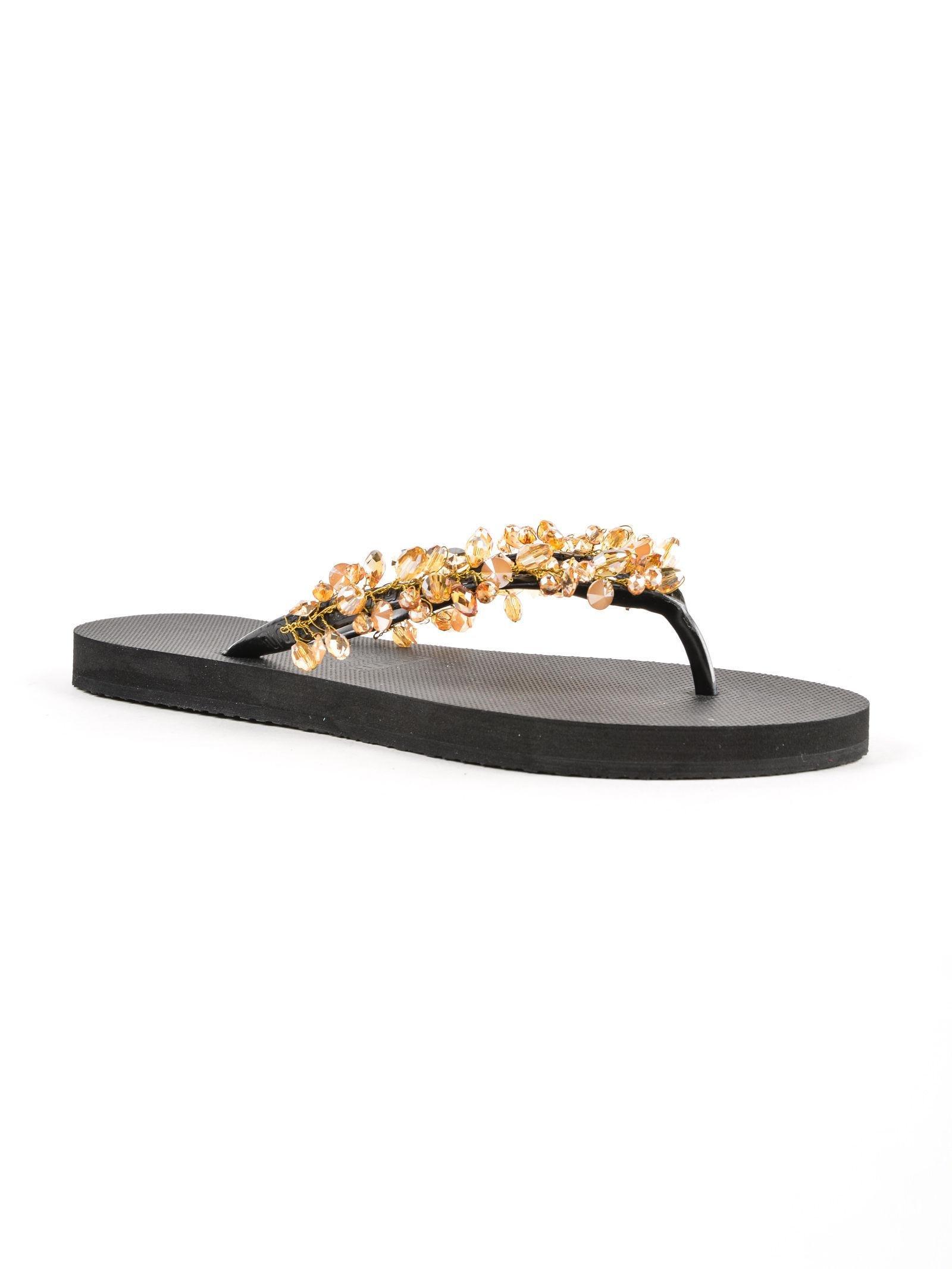 c9cea30561f78 Uzurii Flip Flops Gold Amazon in Black - Save 2% - Lyst