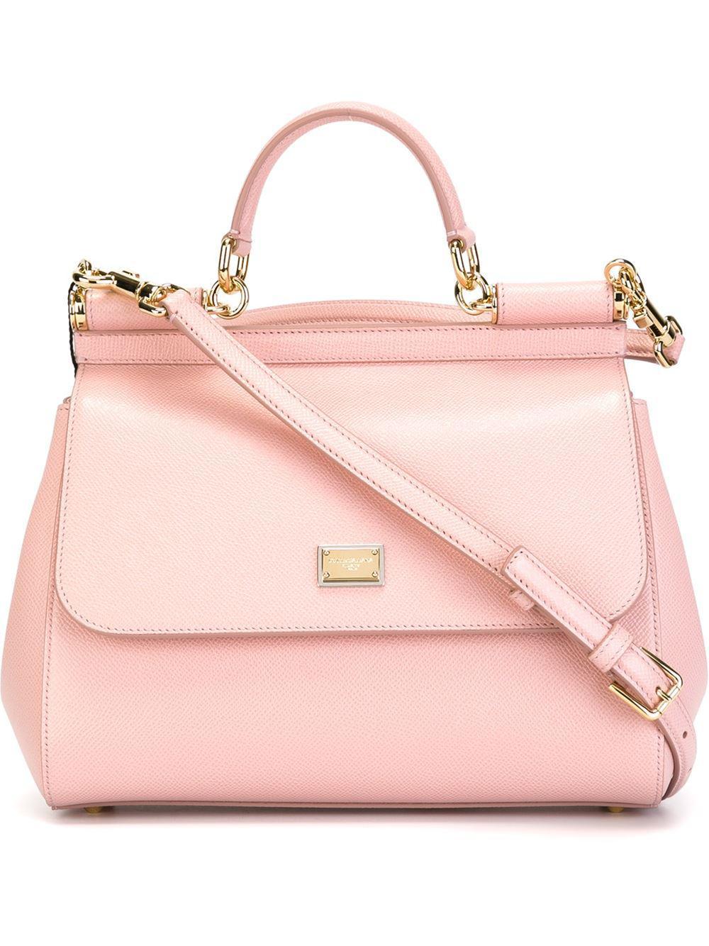 084c28a8425e Lyst - Dolce   Gabbana St.dauphine Handbag in Pink