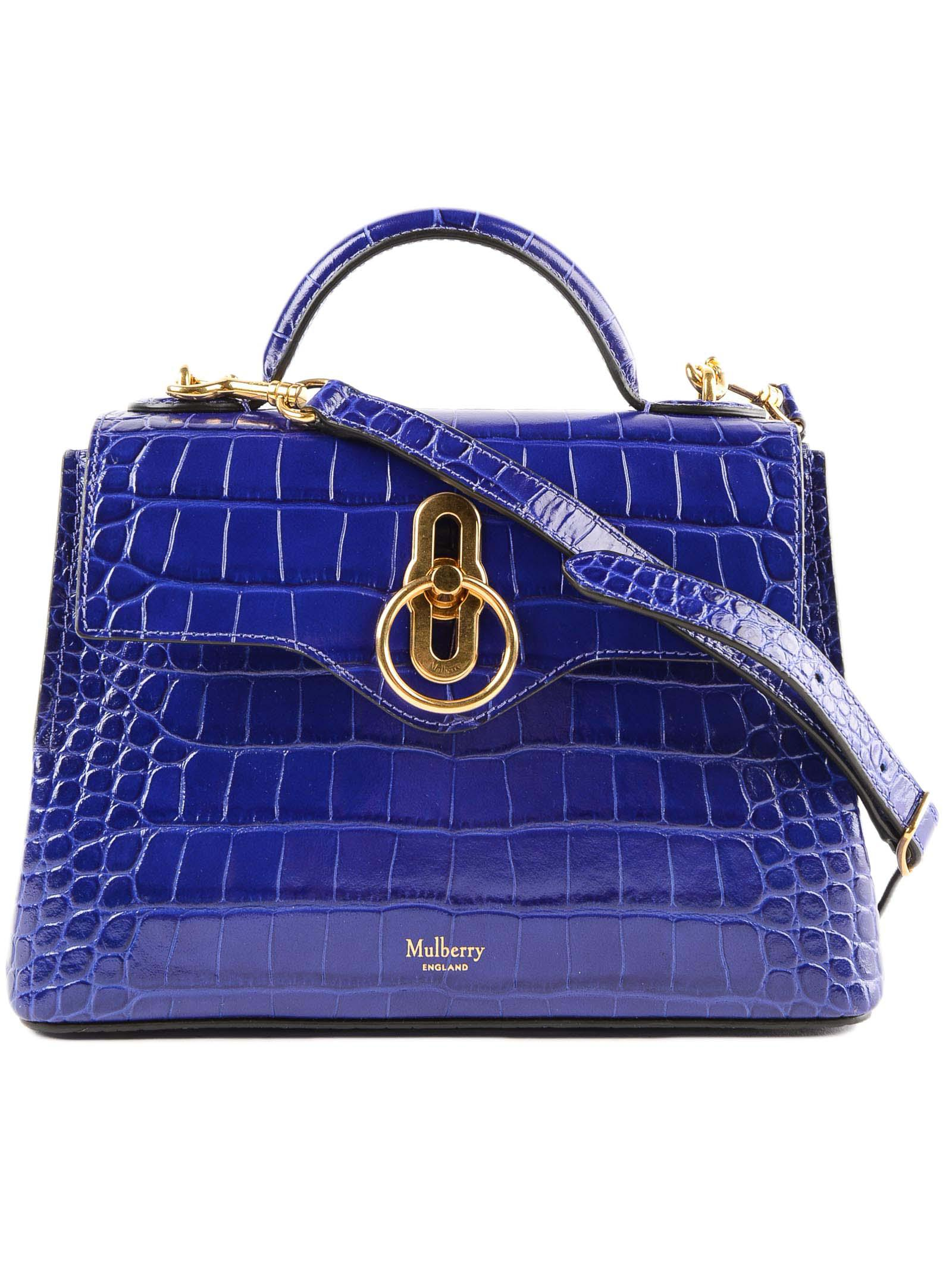 Lyst - Mulberry Mini Seaton Bag in Blue 5e47a4902d05b
