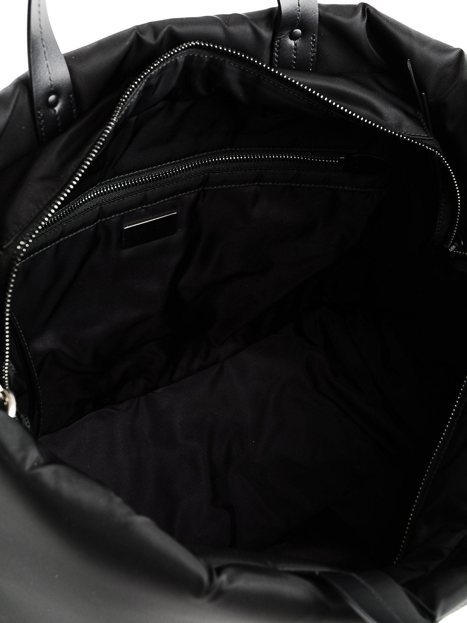 d3e8e20ebcbe ... release date prada black tote tessuto soft lyst. view fullscreen d627a  ecd5d