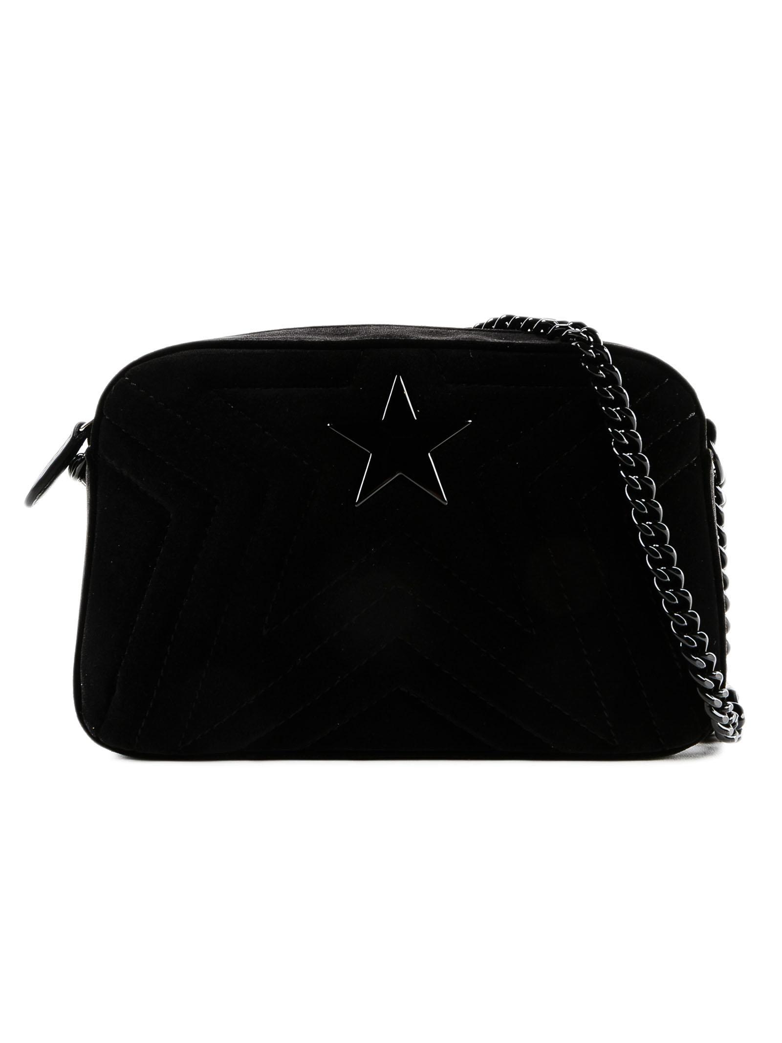 ff26ff8d28 Lyst - Stella McCartney Small Stella Star Velvet Bag in Black