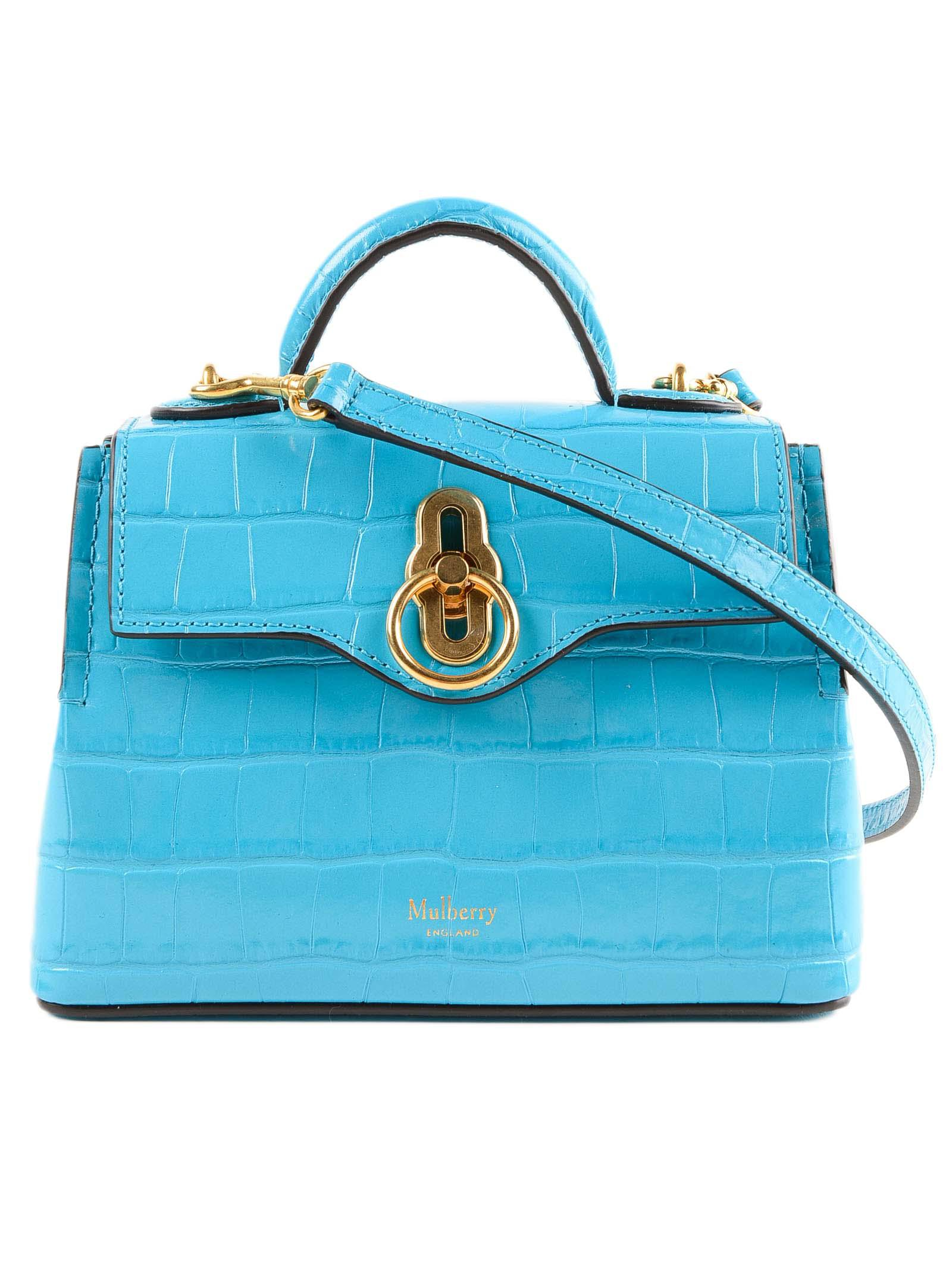 Lyst - Mulberry Micro Seaton Bag in Blue 6ef6071184c6e