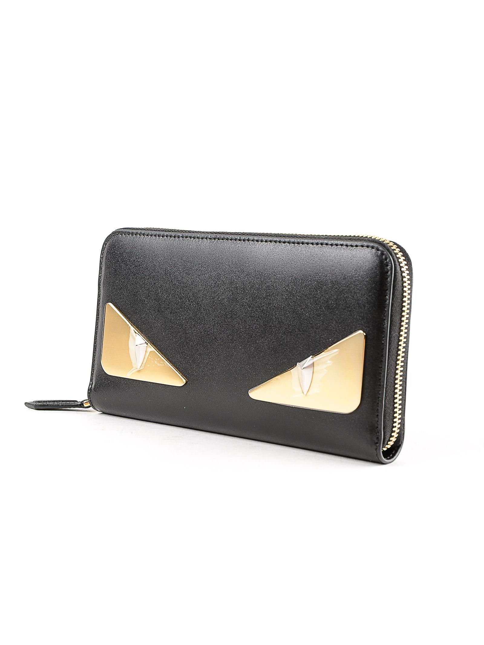 0fd7471610cd Lyst - Fendi Zip Around Wallet in Black