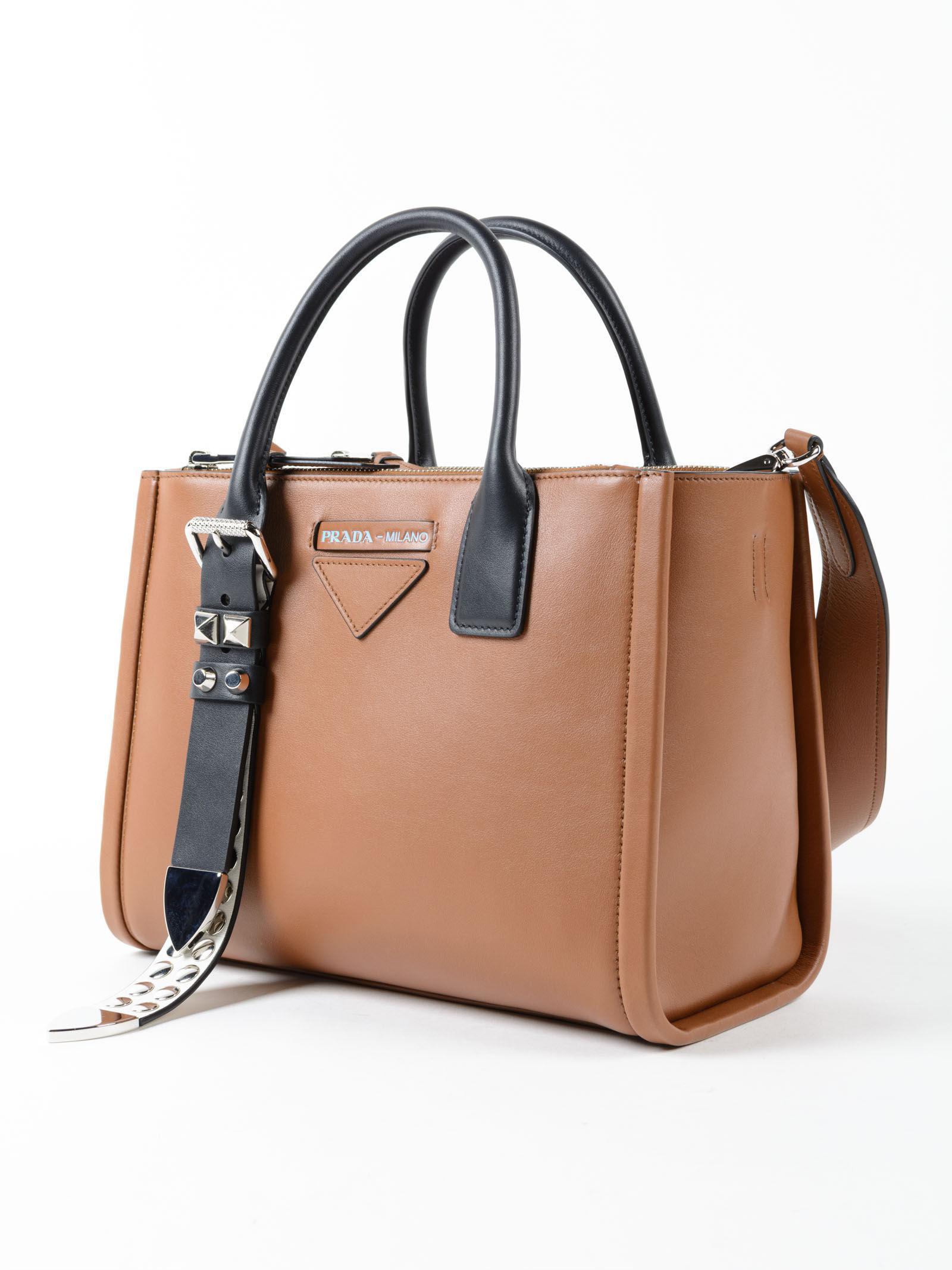 c3fc0e578a Prada Grace Lux Handbag in Brown - Lyst