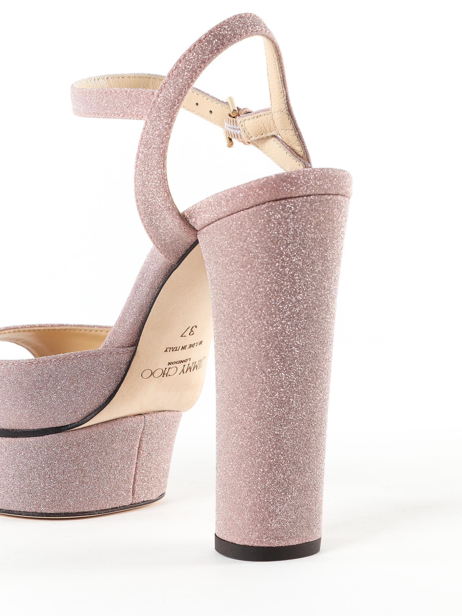 48cff8a6bdf ... Pink Fine Glitter Fabric Sandal - Lyst. View fullscreen