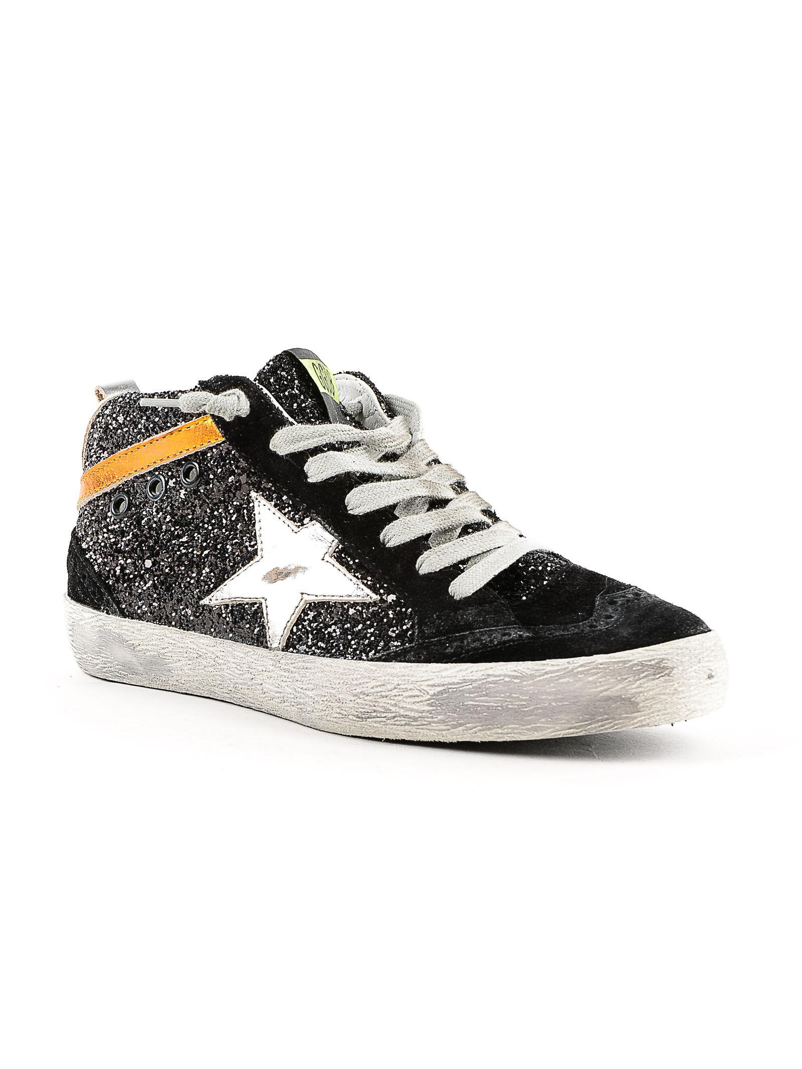 d02cfe58764f Golden Goose Deluxe Brand Sneakers Mid Star Glitter in Black for Men - Lyst
