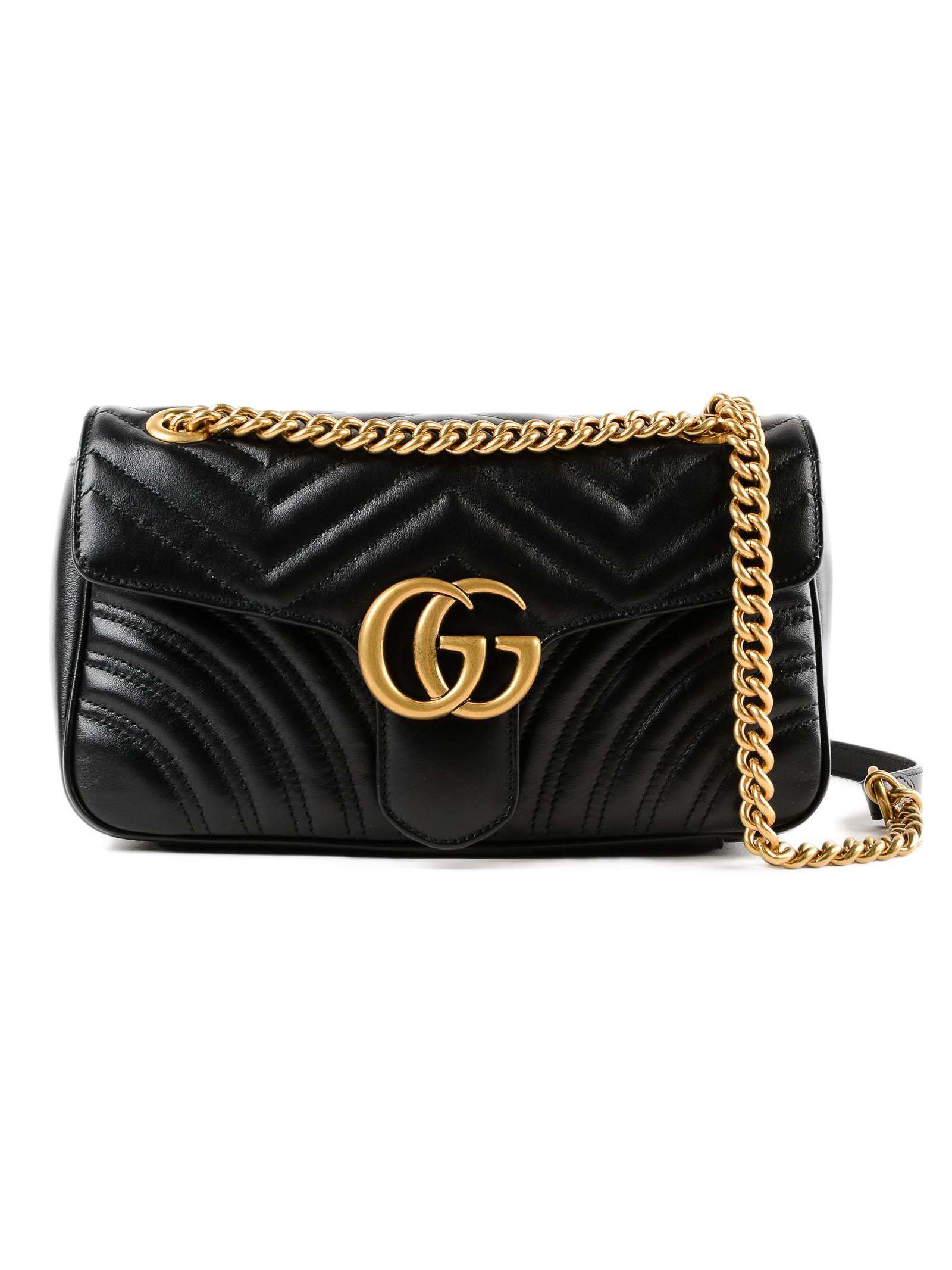 7613a2afb09 Lyst - Gucci W Gg Marmont 2.0 Bag in Black