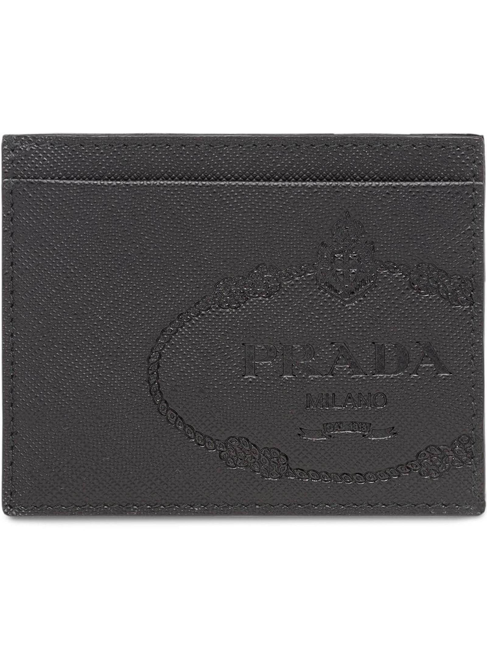 76d82d27e63c57 Prada Cc Case Saffiano Metal in Black for Men - Lyst