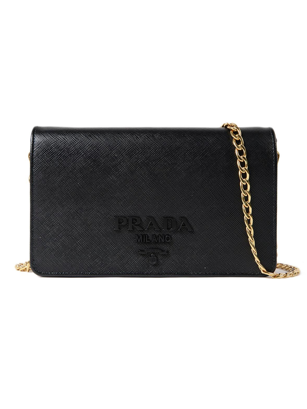 4470338d3468 ... cheapest lyst prada saffiano lux wallet bag in black 02ea9 d7b0d ...