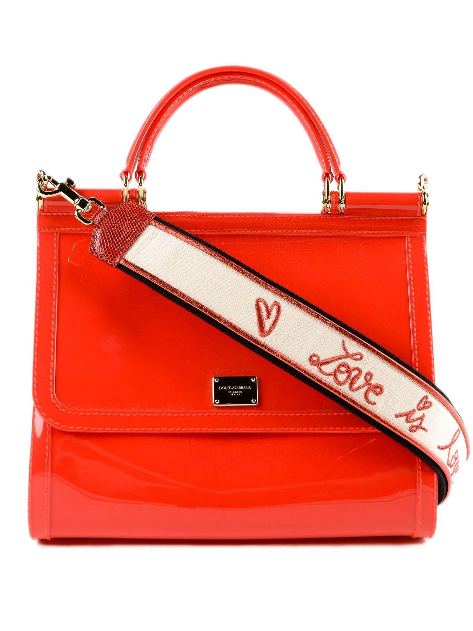f2a2f84da63 ... low priced 78179 19ff8 Dolce Gabbana. Womens Red Rubber Handbag ...