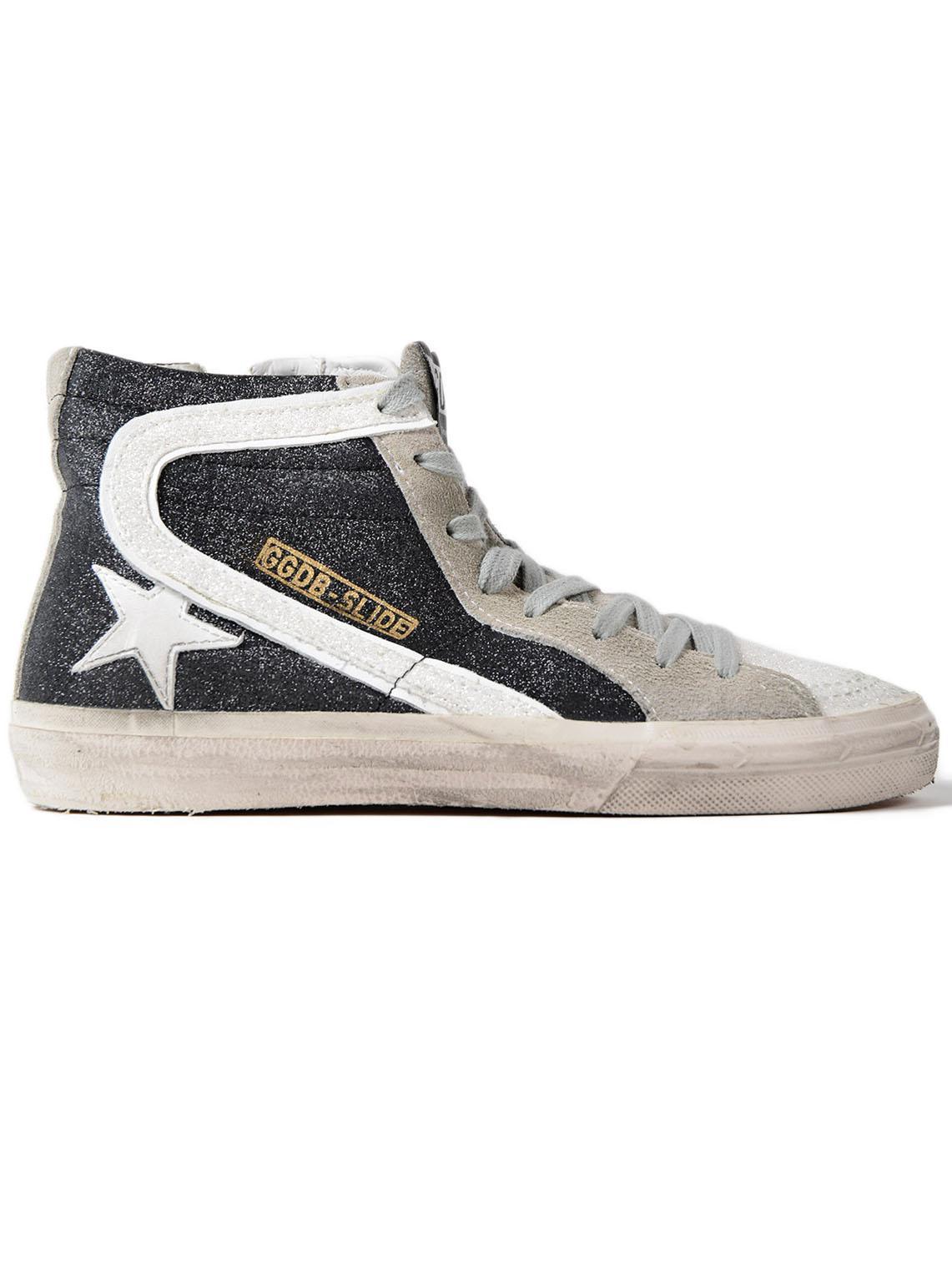 4cdcf7ce83085 Golden Goose Deluxe Brand - Black Sneakers Slide Glitter-white Star for Men  - Lyst