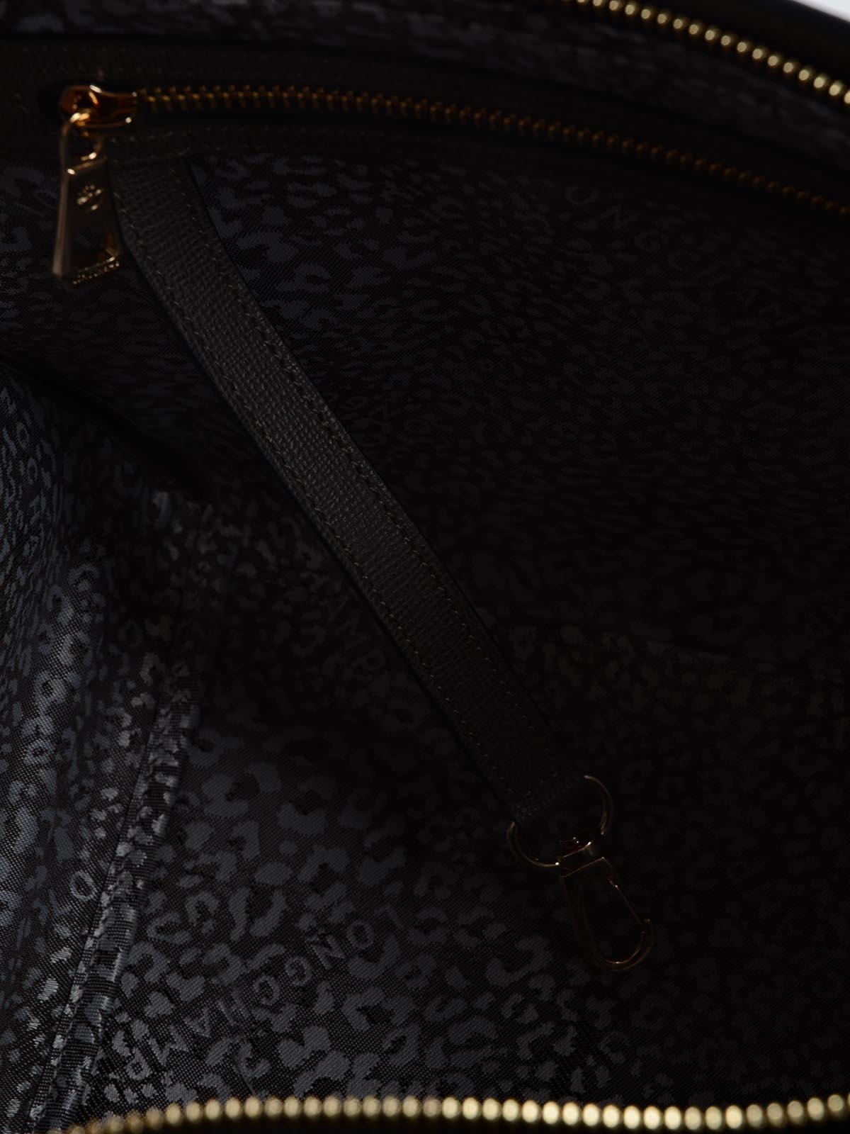 Longchamp Le Pliage Heritage Handle Bag M In Black Lyst Neo Ruby Sz Small View Fullscreen