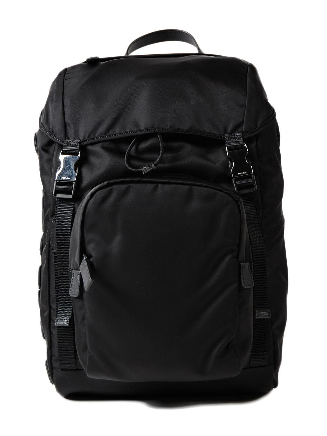2aa26a09496a ... cheap lyst prada tessuto character backpack in black for men 363c5 b9674