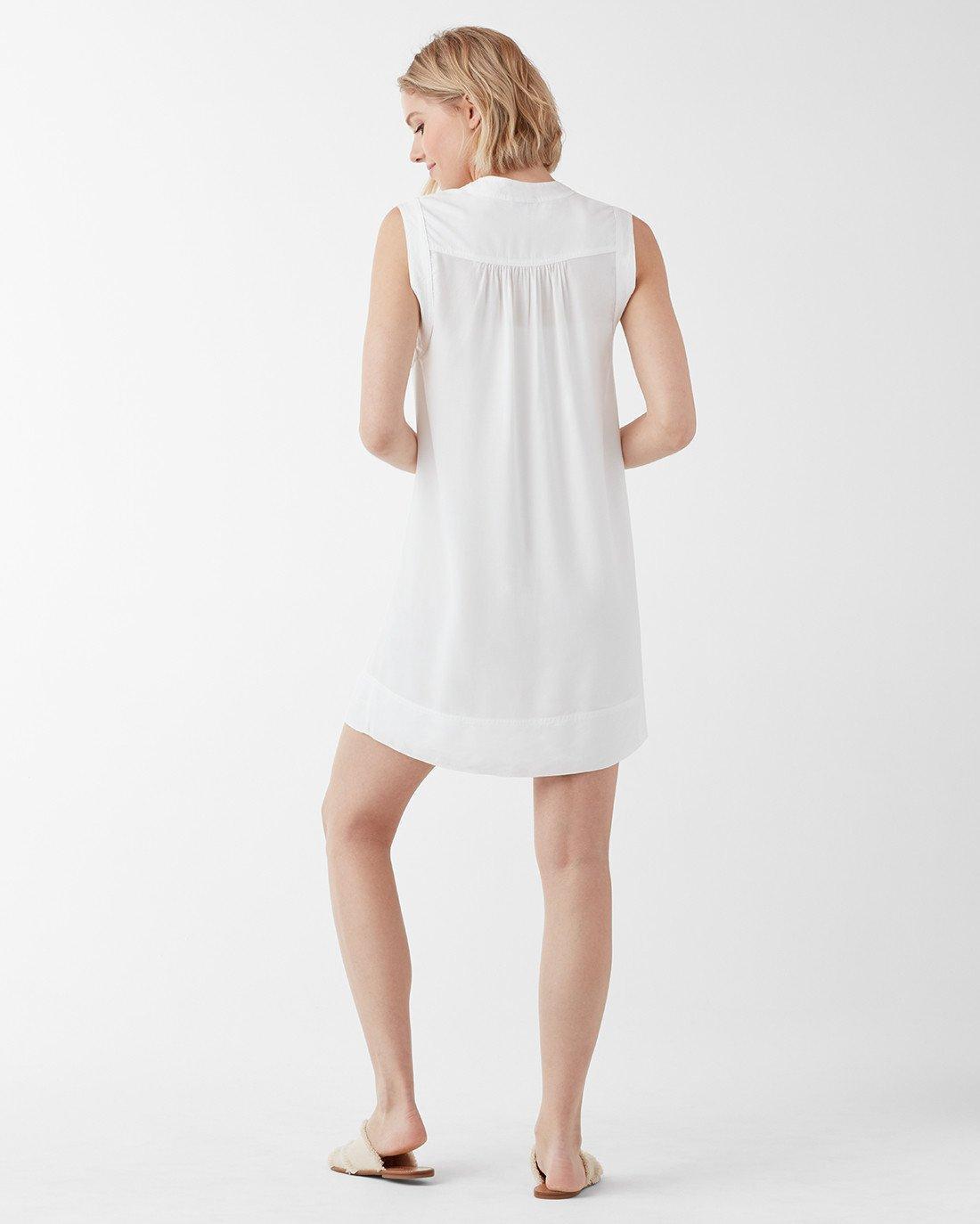 721aaaafc Lyst - Splendid Crosshatch Lace Up Dress in White
