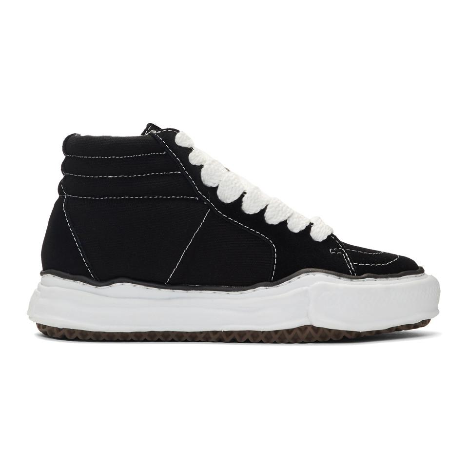 low priced 4a0a3 807a1 Miharayasuhiro. Men s Black Original Sole High-top Sneakers