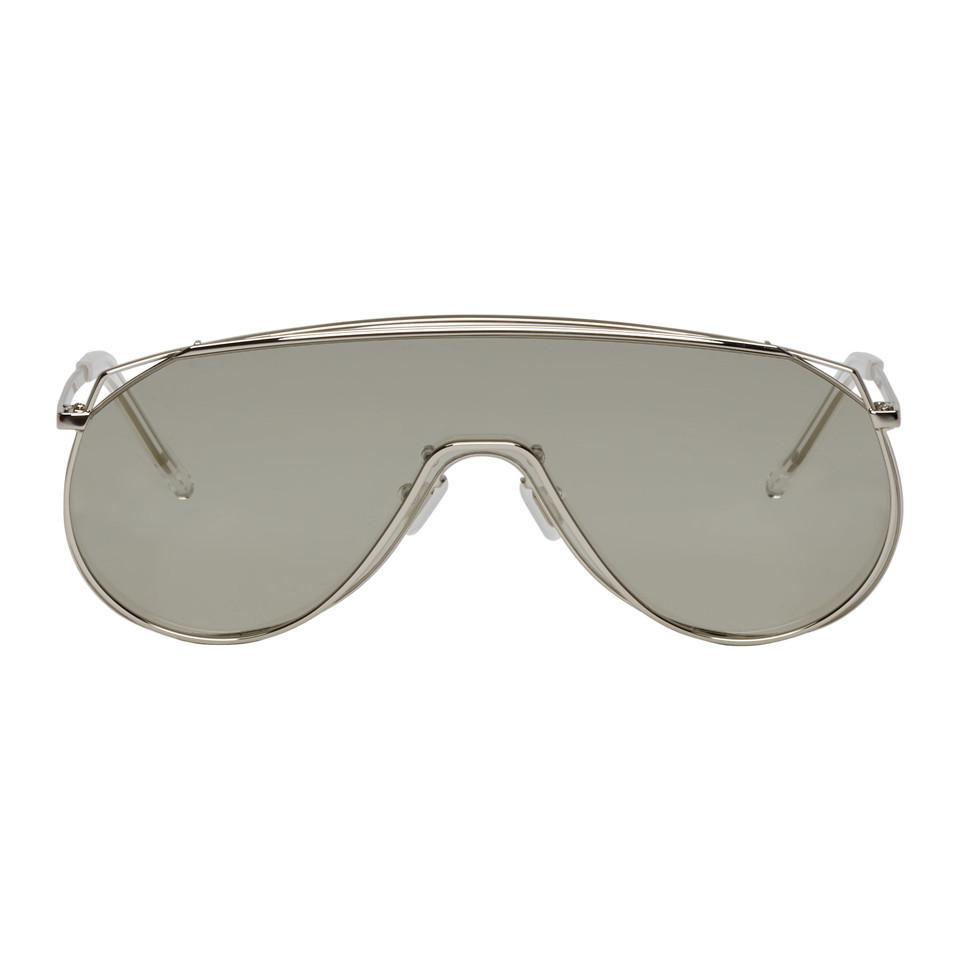 8b7cb916f247 Gentle Monster Silver Afix Sunglasses in Metallic for Men - Lyst