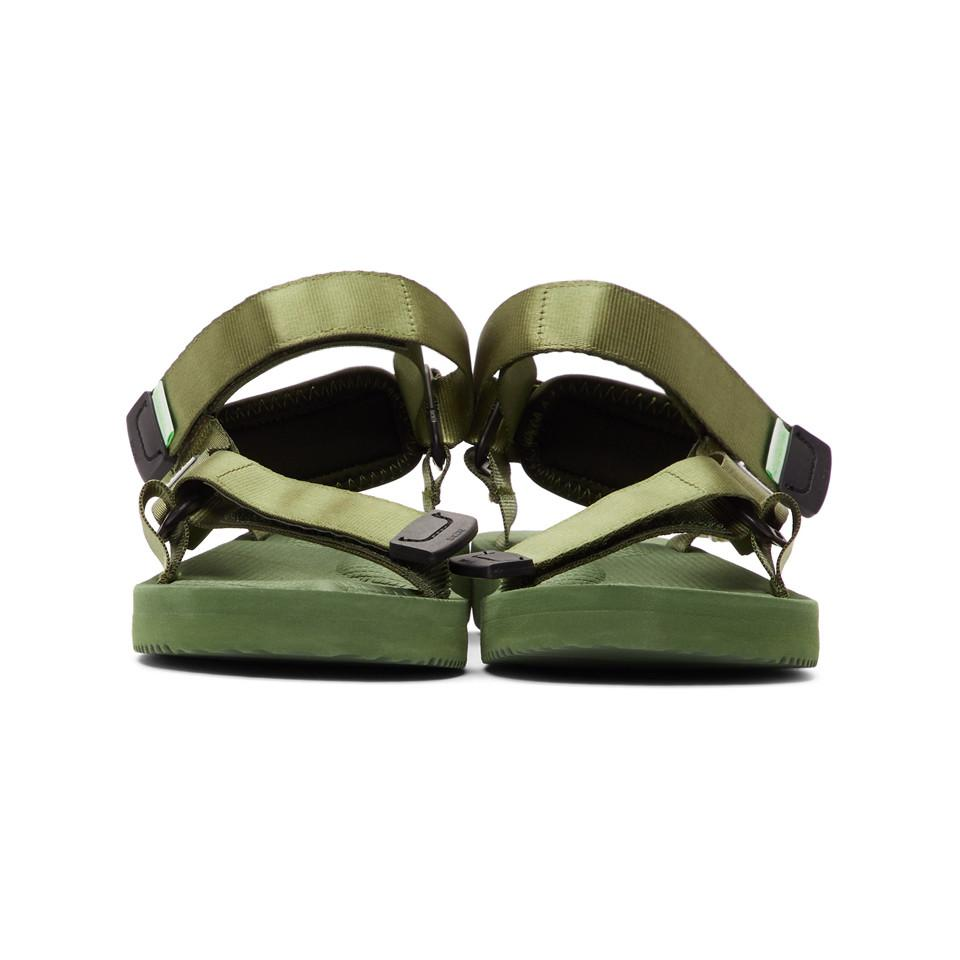 ccd0c153e525 Lyst - Suicoke Green Depa-cab Sandals in Green for Men