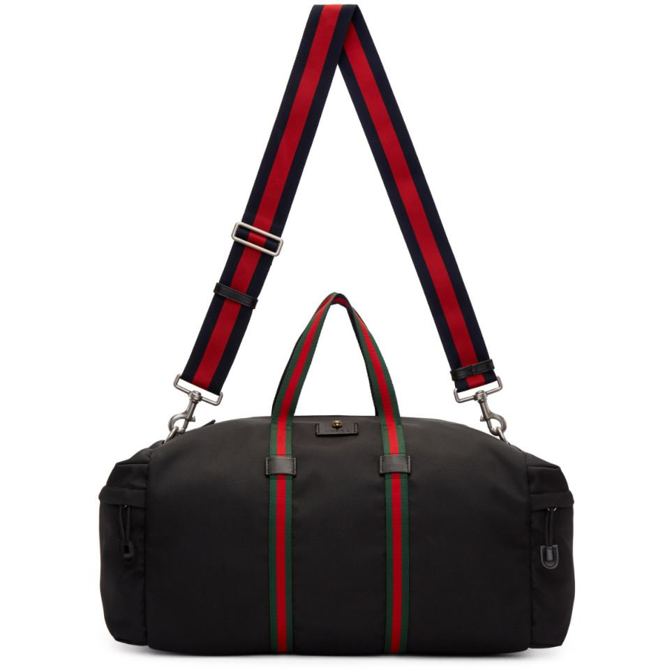 414581f218f9 Lyst - Gucci Black Technical Canvas Duffle Bag in Black for Men