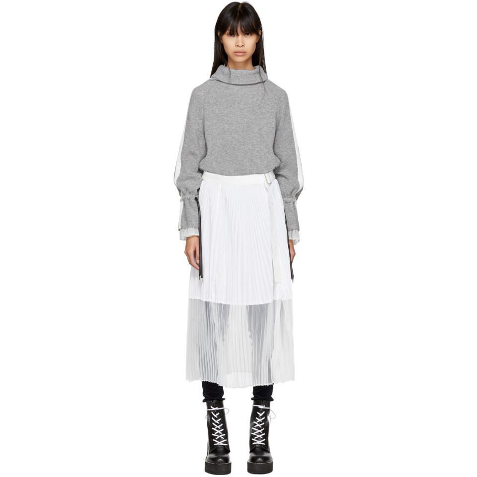 Grey Sport Knit Dress sacai GoEL9CuI