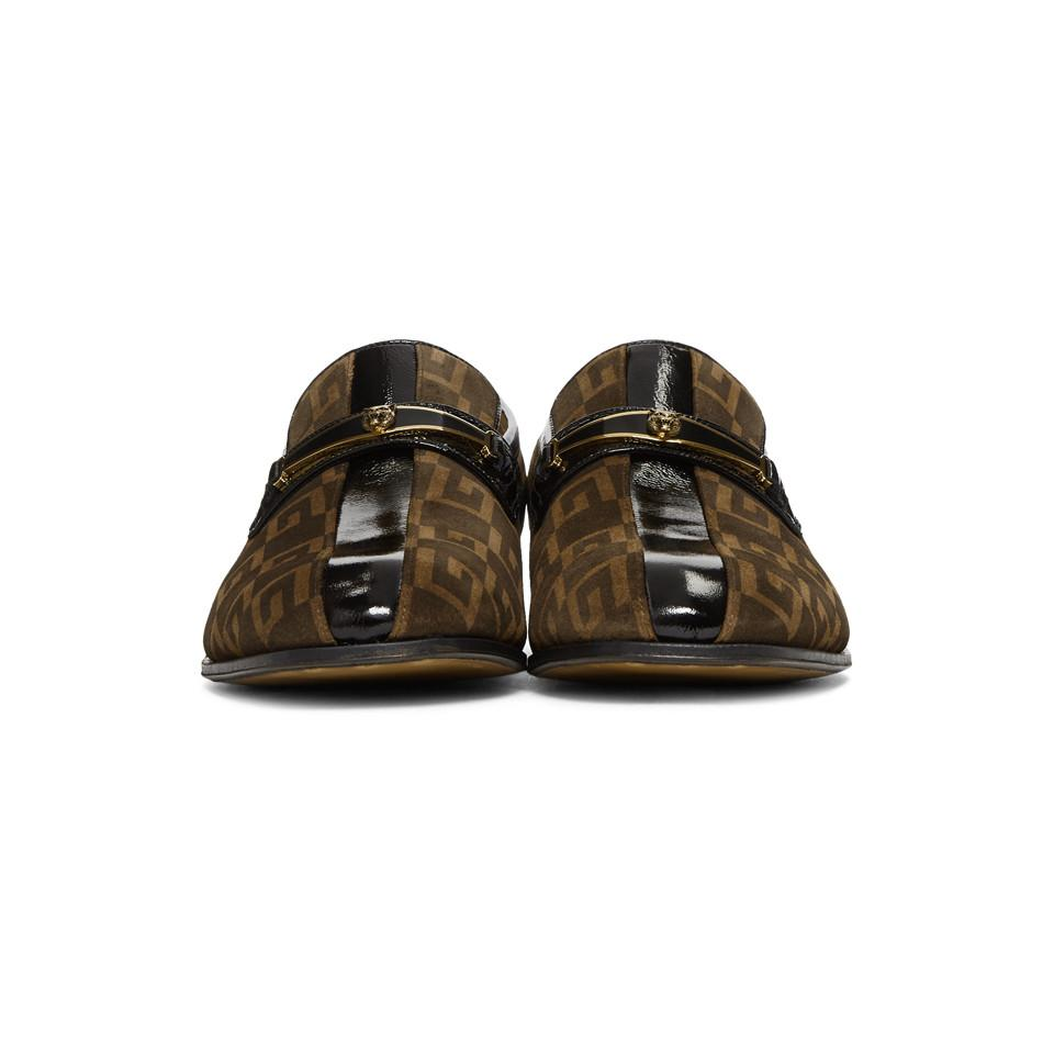 b94aadb9924 Gucci - Brown Suede GG Fox Loafers for Men - Lyst. View fullscreen
