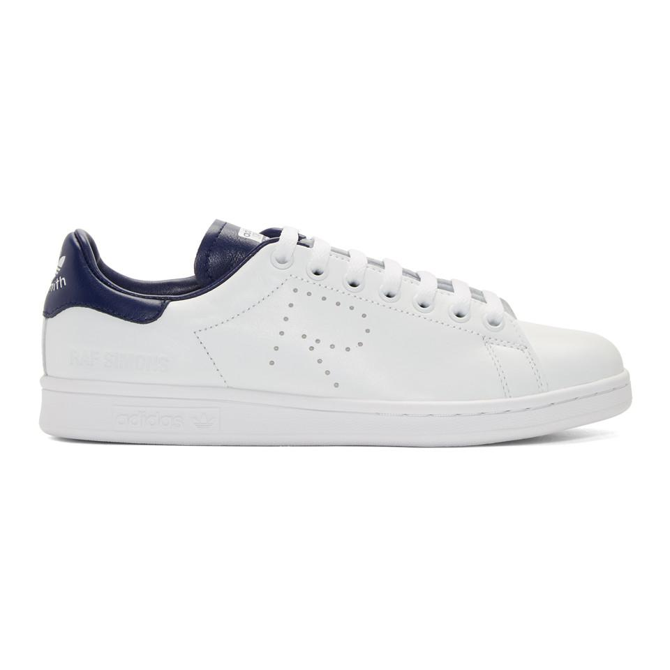 White and Blue adidas Originals Edition Stan Smith Sneakers Raf Simons c3swDkfwhC