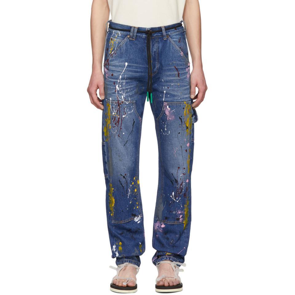 898b58d719b Off-White c o Virgil Abloh Blue Carpenter Jeans in Blue for Men - Lyst