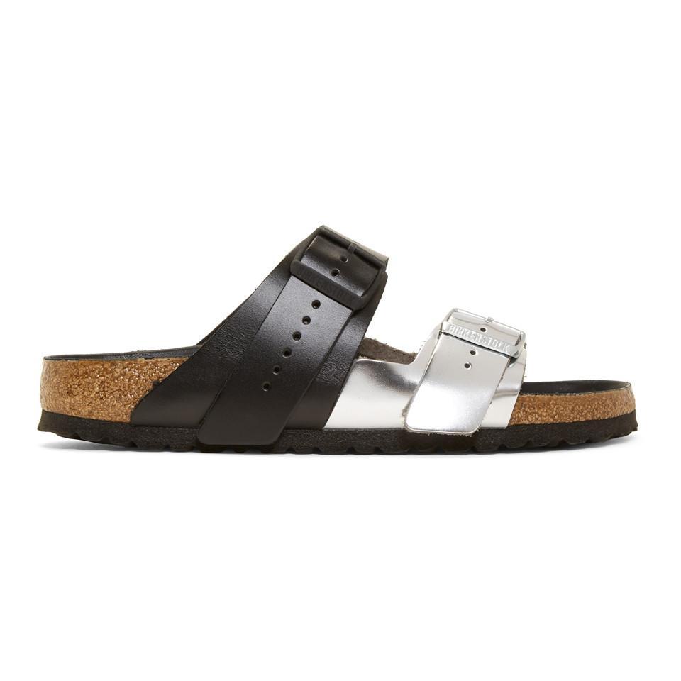 bcfa31483066 Rick Owens. Men s Black And Silver Birkenstock Edition Arizona Rotterdam  Sandals