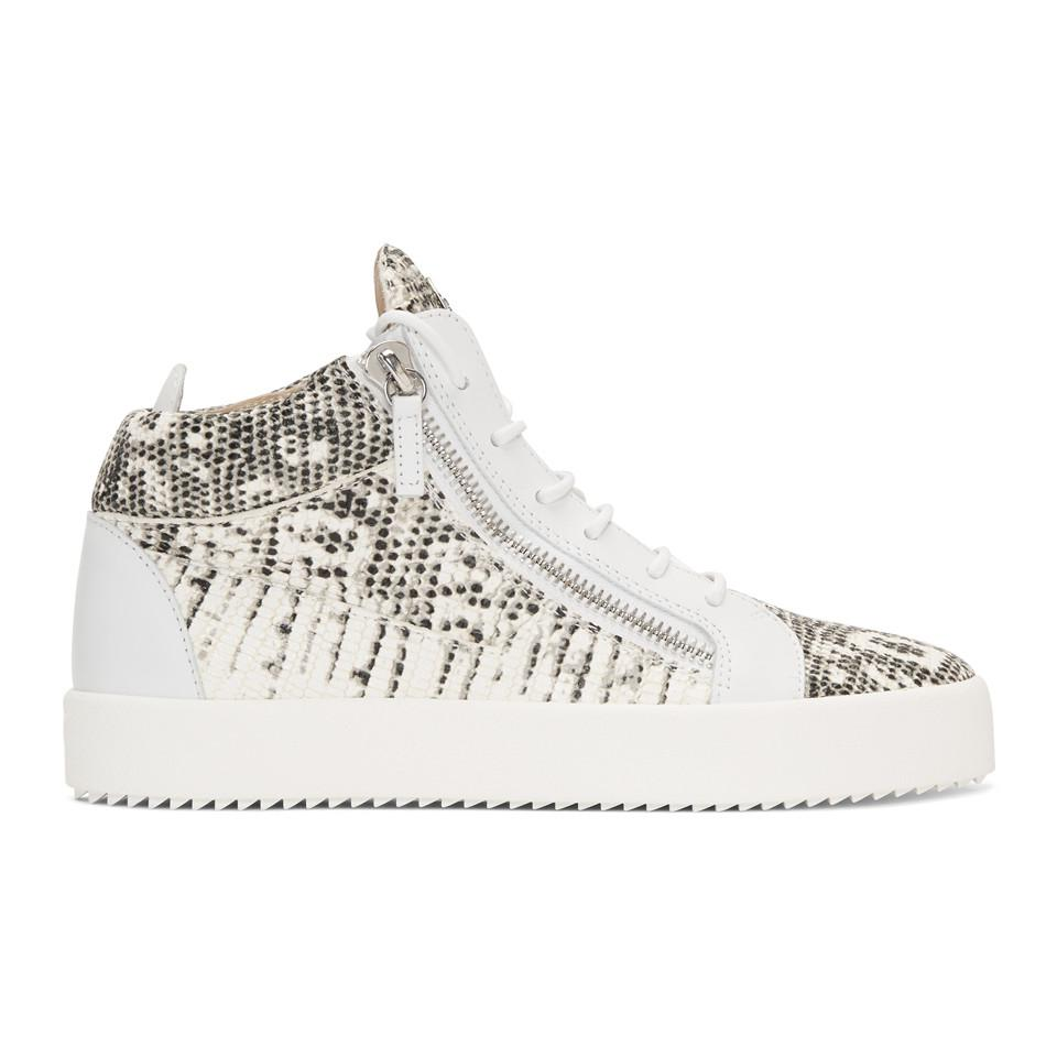 Giuseppe Zanotti Black & White May London High-Top Sneakers