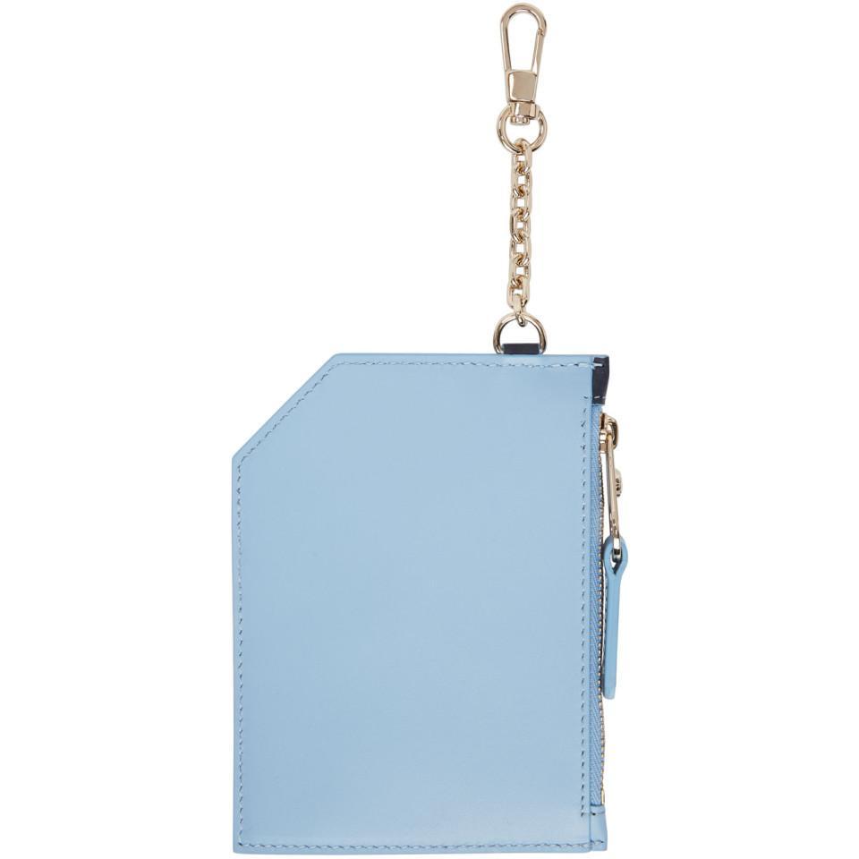 b7bdd5a59ac Versace Tricolor Multi Card Holder in Blue - Lyst