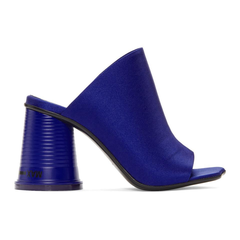 Maison Margiela Blue Satin Cup To Go Sandals ePUEL1