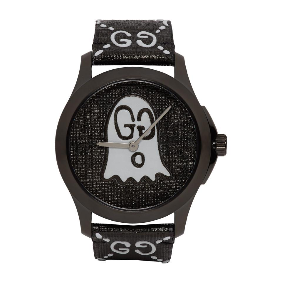 2e35cf77158 Gucci Black G-timeless Ghost Watch in Black for Men - Lyst